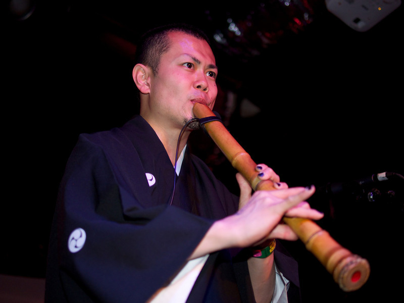 Daisuke plays Shakuhachi in Kao=S, SXSW Japan Nite - Austin, Texas