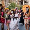 Young Ladies Posing, Dia de los Muertos Parade - Austin, Texas