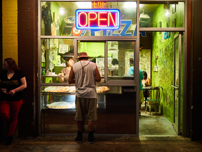 Open for Walkups, 6th Street - Austin, Texas