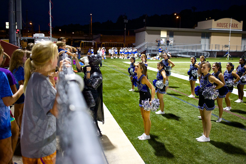 A Knight and Cheerleaders, McCallum vs. Anderson - Austin, Texas