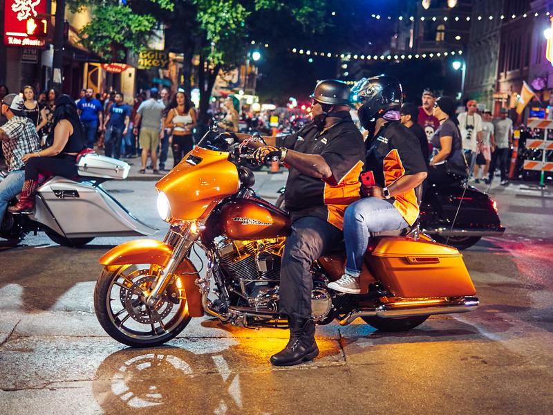 The Golden Harley, 6th Street - Austin, Texas