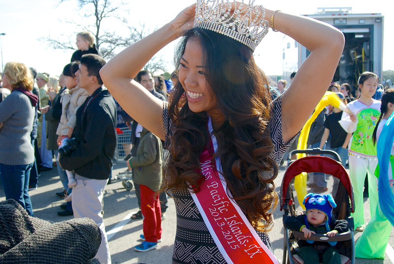 Adjusting my Crown, 2014 Chinese New Year Celebration - Austin, Texas
