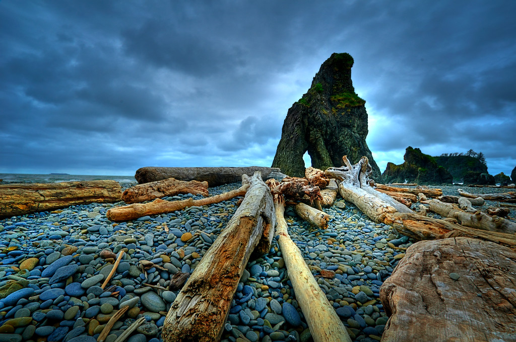 Stormy Ruby Beach - Olympic Peninsula