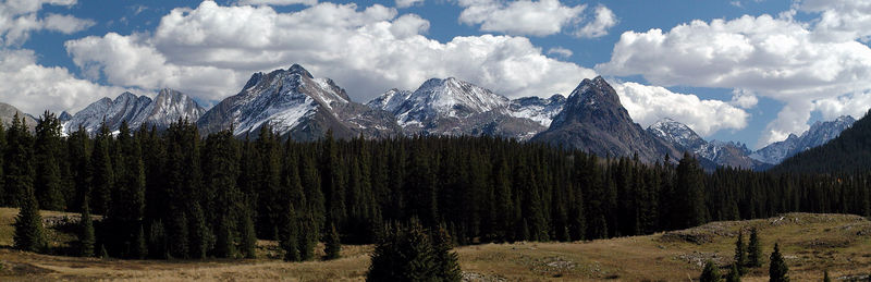 Colorado's San Juan Mountain Range from Molas Pass.  This panorama is a result of merging 7 seperate images into a single image.