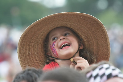 A very happy, young music fan at the 2006 Austin City Limits Music Festival.