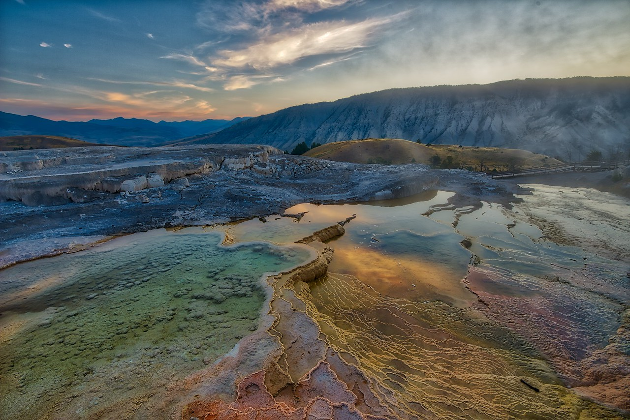 Mammoth Springs - Yellowstone 2017