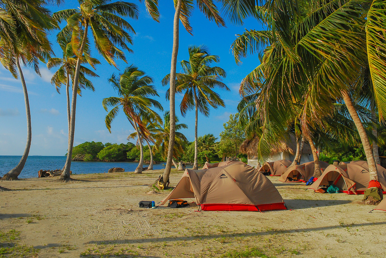 This was our campsite at Tobacco Range during Belize Ultimate Adventure. Belize 2009