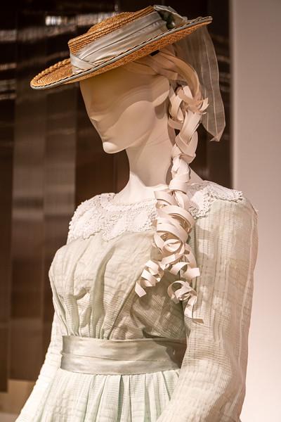Close-up of a dress worn by Emma Watson, who played Meg March