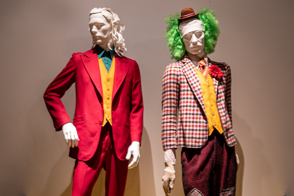 Costumes from the film, Joker.