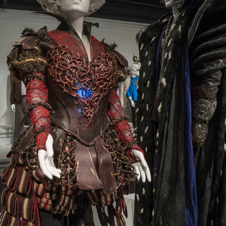 Detail on Alice Through the Looking Glass costumes by Colleen Atwood