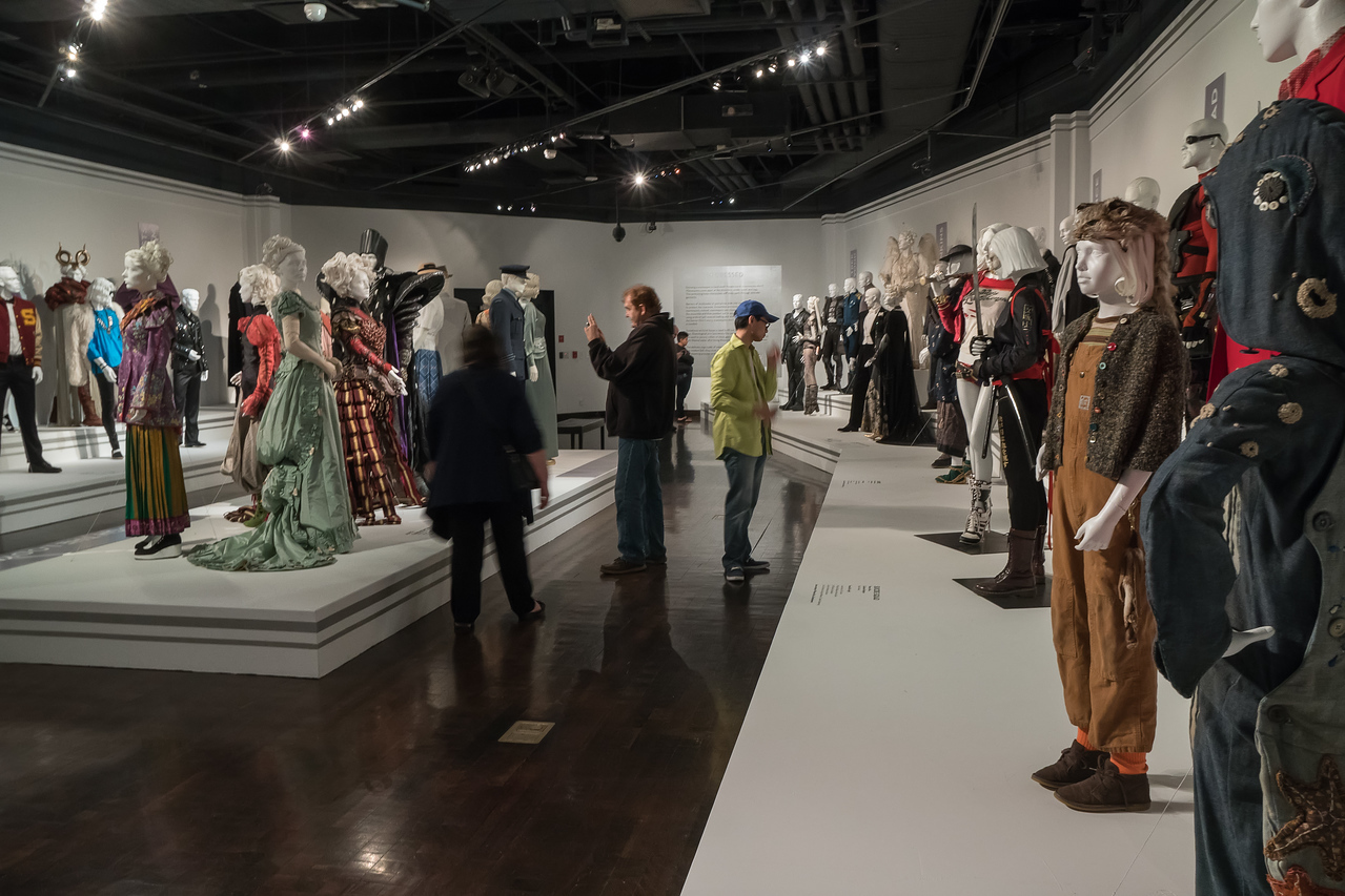 Visitors in the FIDM Museum gallery