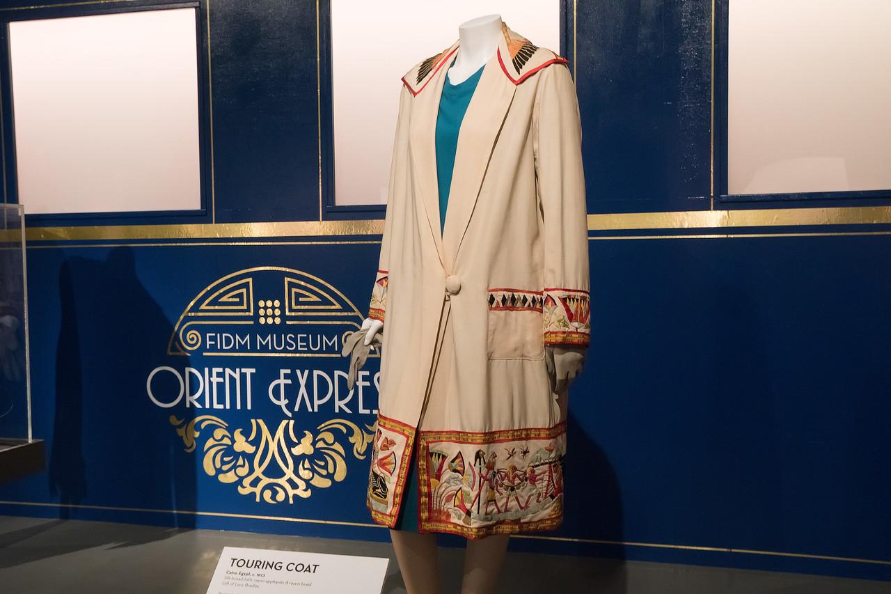 Egyptian silk broadcloth touring coat