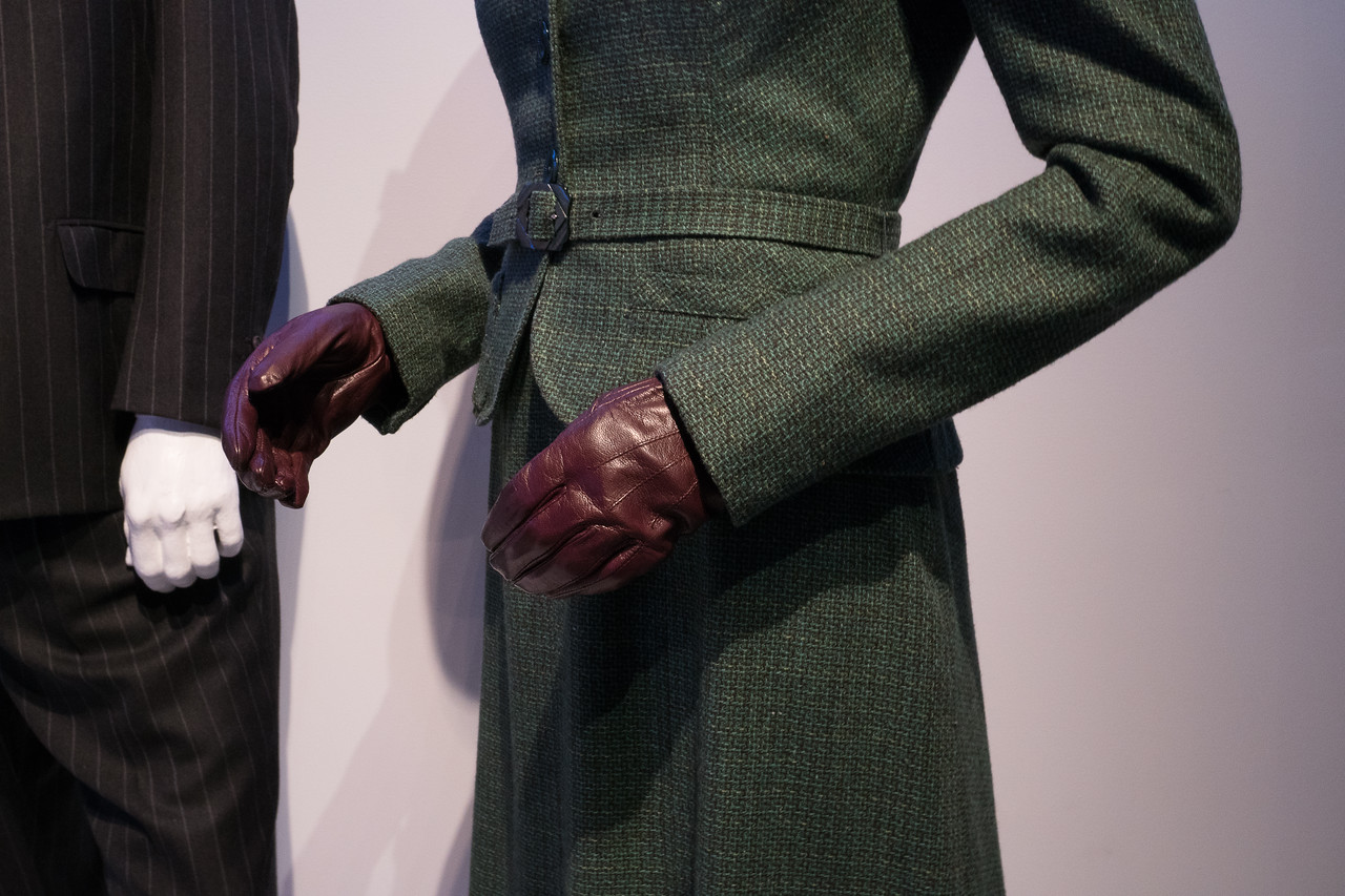 Costume detail from Jacqueline Durran's work on the picture Darkest Hour.