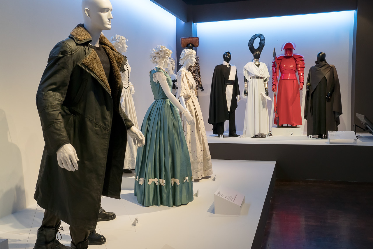 FIDM Gallery with costumes from Blade Runner, The Beguiled, and Star Wars: The Last Jedi