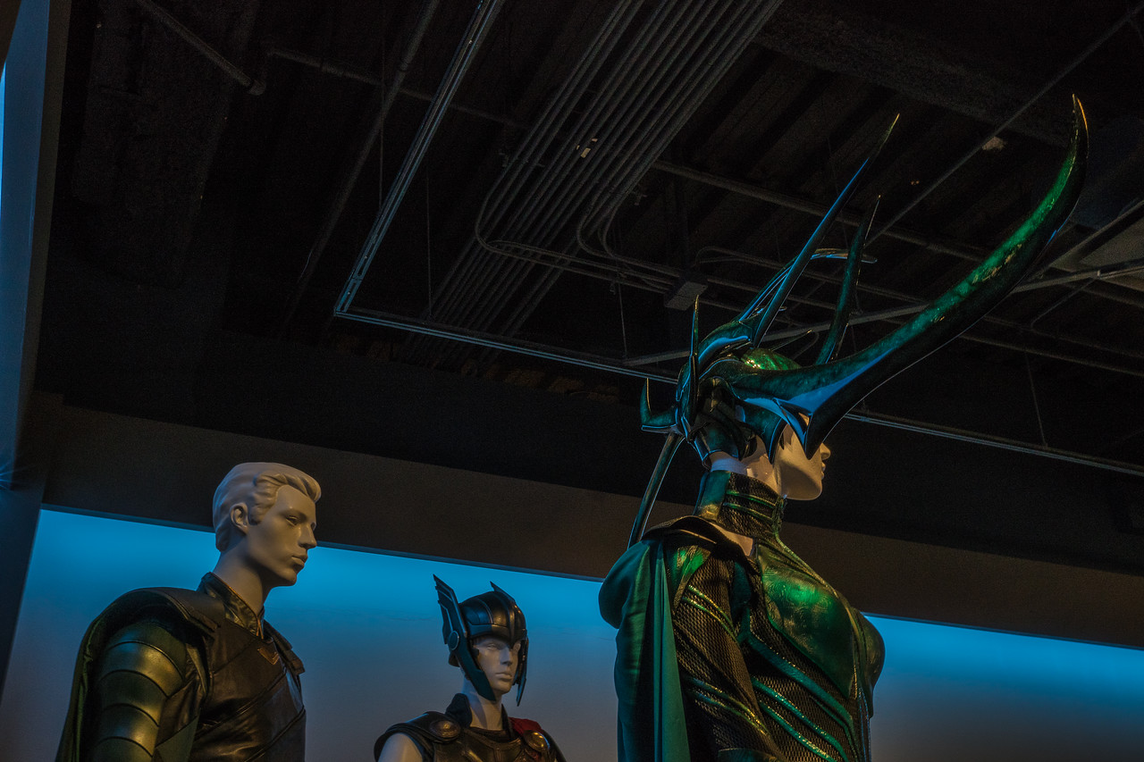 Hela's headdress.  Thor:Ragnarok.  Costume designer, Mayes C Rubeo