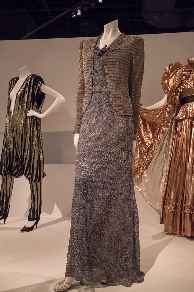 Crocheted metallic yarn gown, 1937