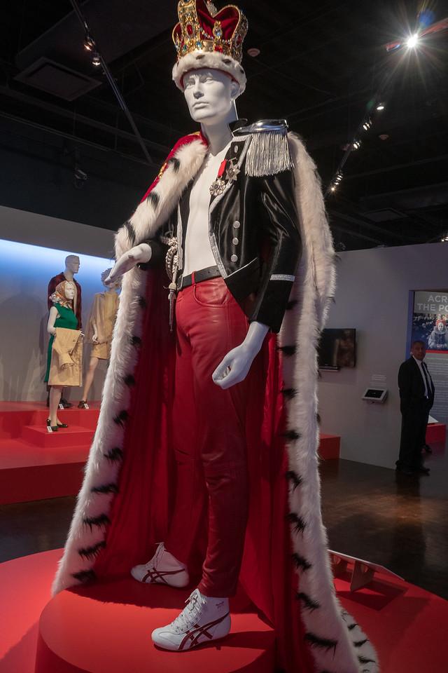 Freddie Mercury costume from Bohemian Rhapsody. Design by Julian Day