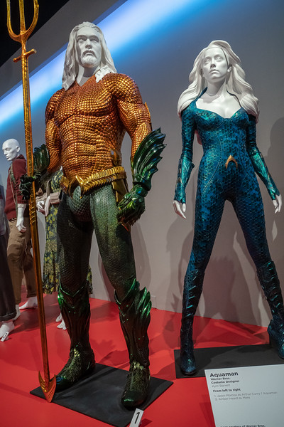 Aquaman and Mera from the movie Aquaman.  Design by Kym Barrett