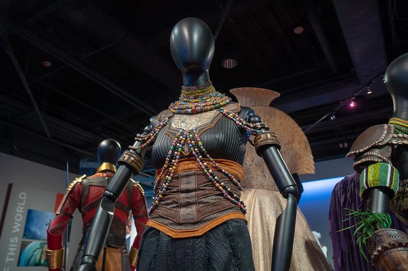 Shuri, duel outfit, designer Ruth E. Carter