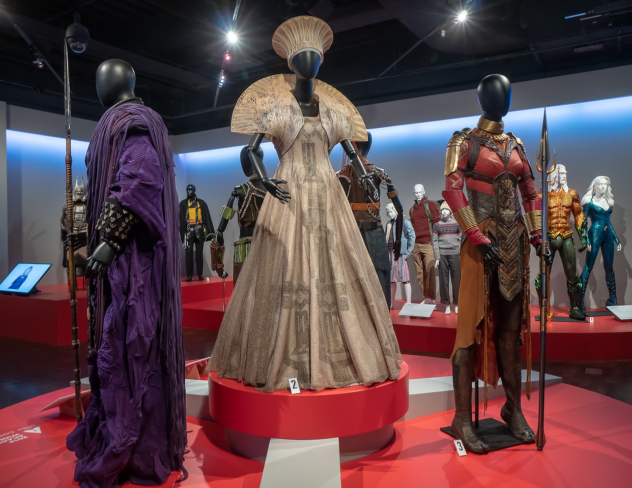 Costumes from Black Panther, designed by Ruth E. Carter