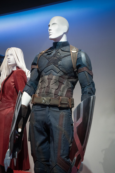 A somber Captain America from Avengers: Infinity War.  Design by Judianna Makovsky