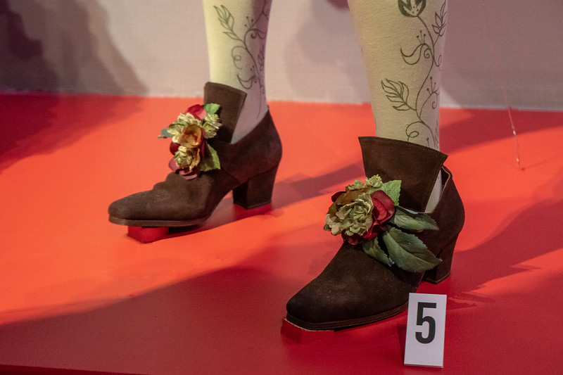 Detail of Hawthorne's shoes, from the movie The Nutcracker and the Four Realms.  Design by Jenny Beavan
