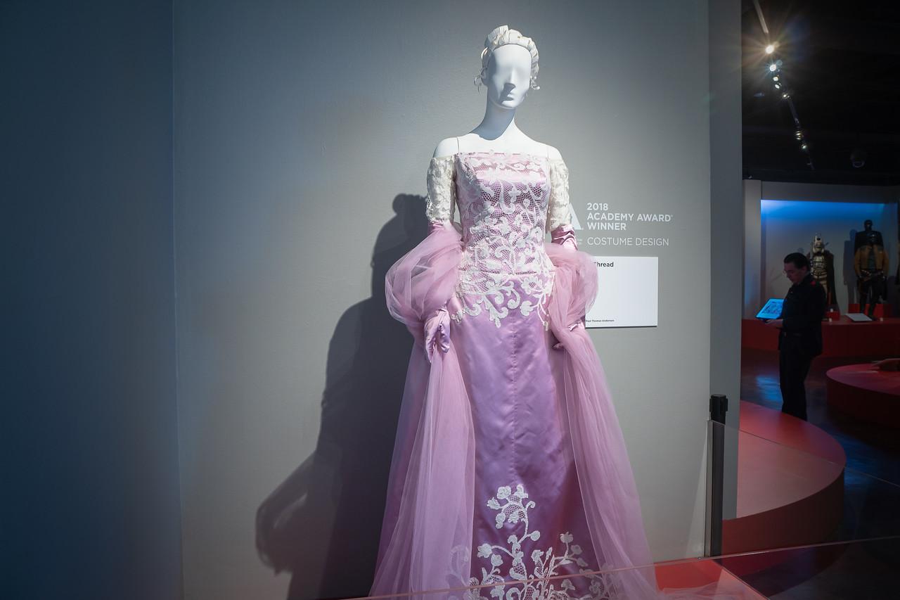 2018 Academy Award for Costume Design went to Mark Bridges for his work on the film, <em>Phantom Thread.