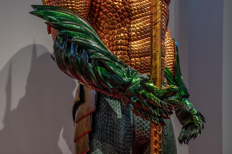 Detail of Aquaman's glove.  Design by Kym Barrett