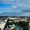 HELSINKI. HELSINGFORS. VIEW OVER THE CENTER OF THE CITY IN SUMMERTIME.