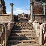 POLONNARUWA. QUADRANGLE. VATADAGE. AN UNESCO WORLD HERITAGE SITE. SRI LANKA.