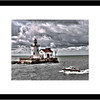 16x20 Frame - 11x17 Matte - Cleveland Harbor West Pierhead Lighthouse