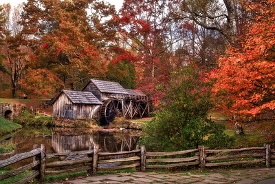 Mabry Mill Autumn Morning