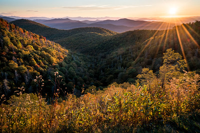 Rays Over The Blue RIdge