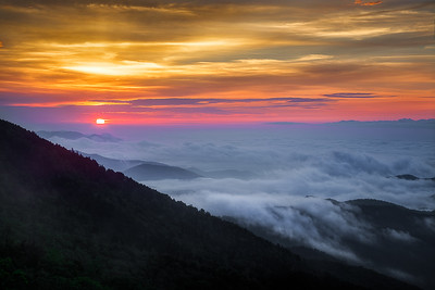Pop Goes The Sun Over the Blue Ridge Mountains
