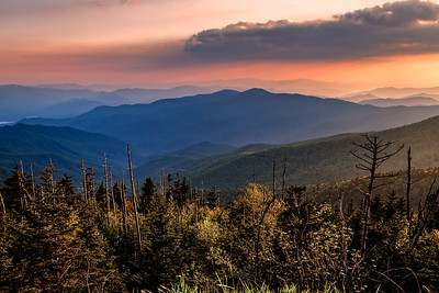 Sunset On Clingmans Dome