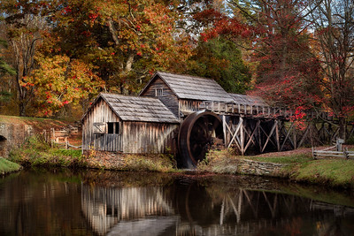 FIrst Light at Mabry Mill