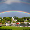 Double Rainbow Over Rockport Marina