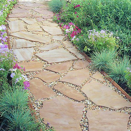 Flagstone and Pebbles