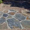 Flagstone and brick mix