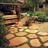 Flagstone path w/ plantings in between