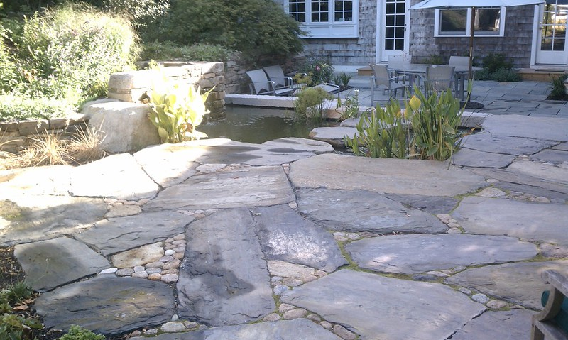 Flagstone patio retreat