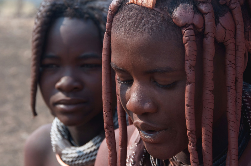 Himba girls, Namibia.