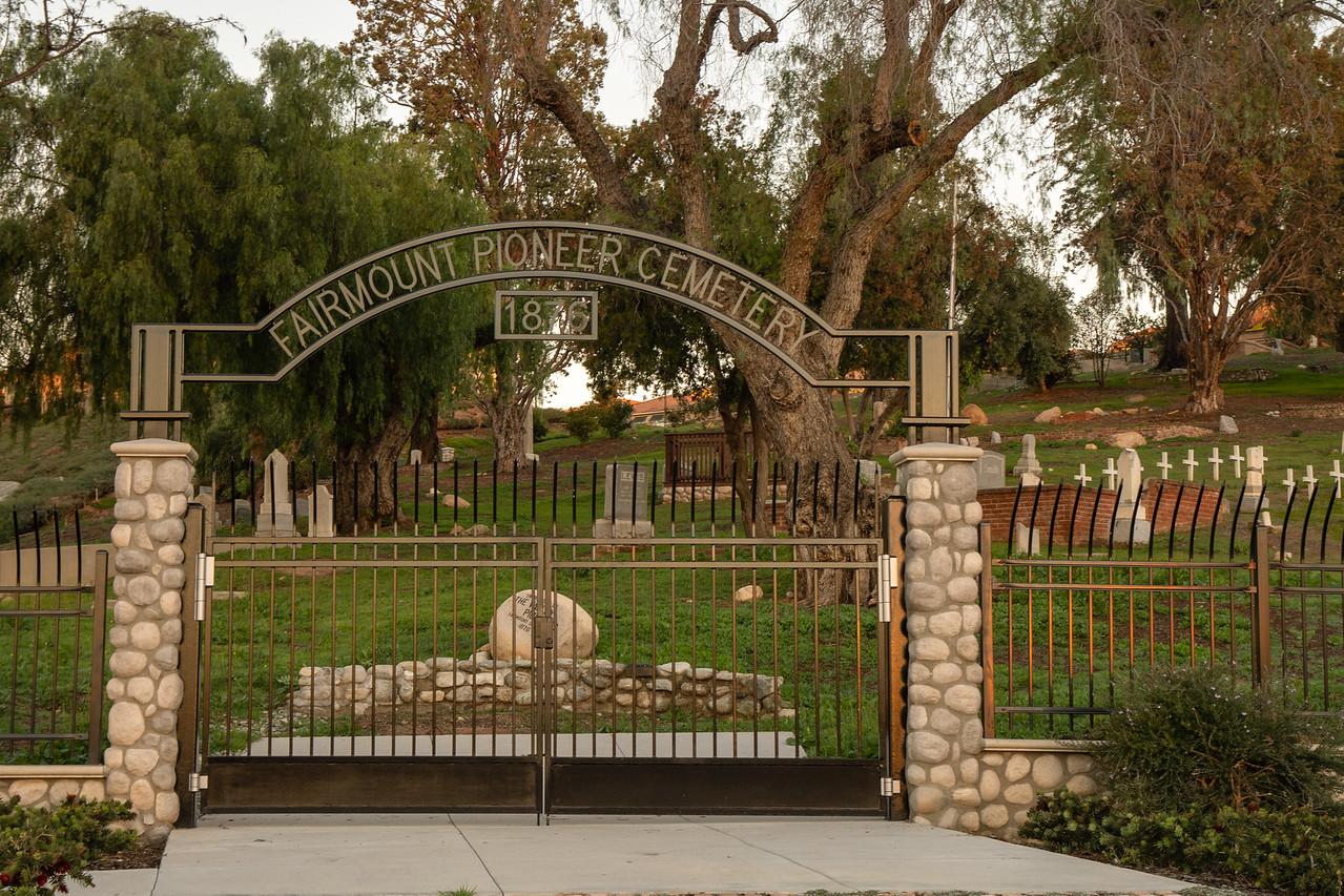The gates of Fairmount Cemetery