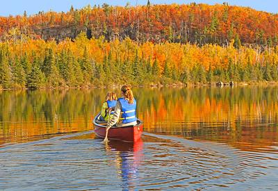 Canoeing Mic Mac Lake