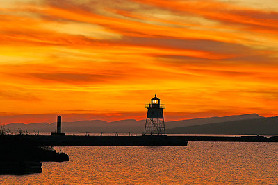 Sunset in Grand Marais November 4, 2011