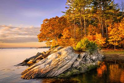 Fall Colors at Falmouth Shoreline
