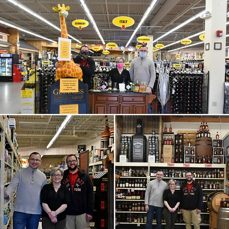 Gosia Kaziemierczak, Store Manager with crew Kris Bekier & Ryan Betas at Liquor Depot of Simsbury