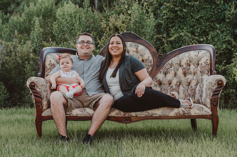 Vintage Couch Family Session