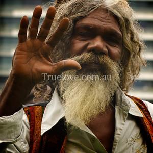 Actor David Gilpilil promotes the movie 'Australia' in Sydney © Tess Peni 2008