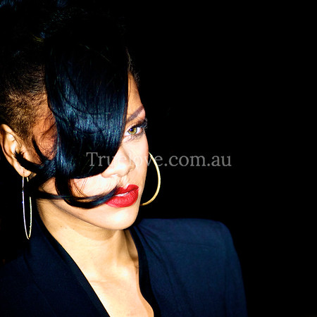 Actress and singer Rihanna, in Sydney to promote her film 'Battleship'. © Tess Peni 2012